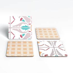 Sand Tone Tiles Coaster Set