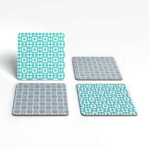 Cool Tone Small Tiles Coaster Set