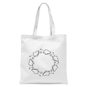 Fish Tote Bag - White