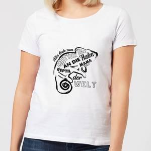 Alles Gute Zum Muttertag An Die Besten Reptil Mama Der Welt Women's T-Shirt - White