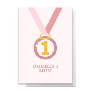 Number 1 Mum Greetings Card