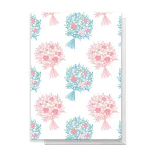Bouquet Pattern Greetings Card