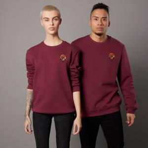 Borderlands 3 Claptrap Unisex Embroidered Sweatshirt - Burgundy