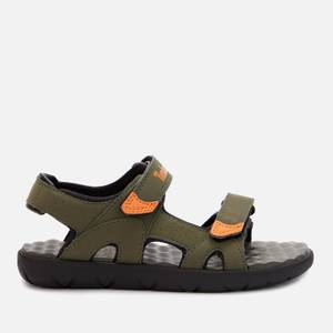 Timberland Kids' Perkins Row 2-Strap Sandals - Dark Green/Orange