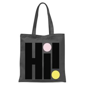 Hi! Colourful Tote Bag - Grey