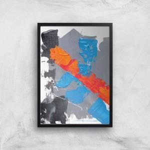 Cobalt And Orange Strike Giclee Art Print
