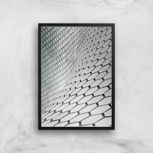 A Wave Of Hexagons Giclee Art Print