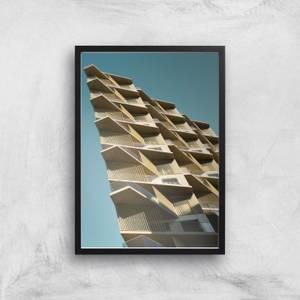 Distorted Buildings Giclee Art Print