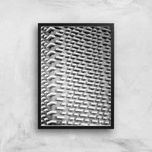 Apartment Block Giclee Art Print