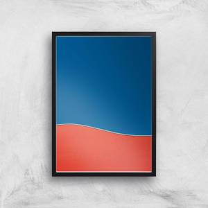 Abstract Shore Line Giclee Art Print