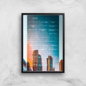 City Reflection Giclee Art Print