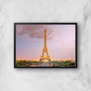 Eiffel Tower At Dusk Giclee Art Print