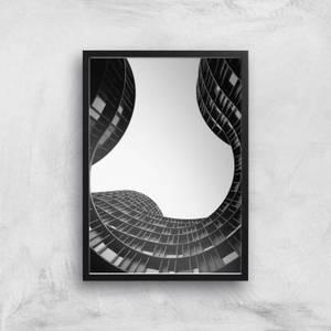 Wavey Architecture Giclee Art Print