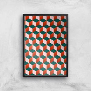 Stacking Cubes Giclee Art Print