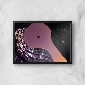 City Fly Over Giclee Art Print