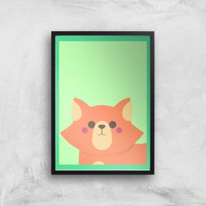 Cute Orange Fox Giclee Art Print