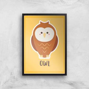 This Is A Owl Giclee Art Print