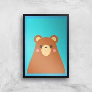 Cute Brown Bear Giclee Art Print