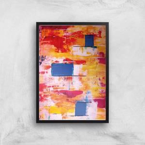 Colourful Apartments Giclee Art Print