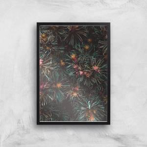 Flowers Like Fire Works Giclee Art Print