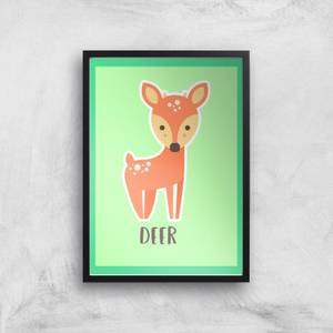 This Is A Deer Giclee Art Print
