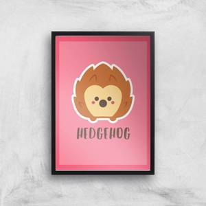 This Is A Hedgehog Giclee Art Print