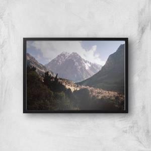 Mountain Range Stroll Giclee Art Print