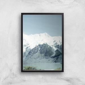 Snowy Mountains Giclee Art Print