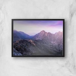 Lilac Mountains Giclee Art Print