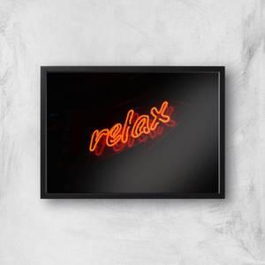 Neon Relax Giclee Art Print