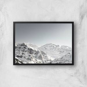 Snow Caked Mountains Giclee Art Print