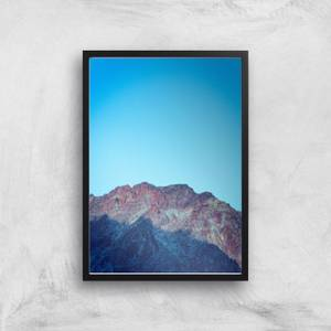 Saturated Mountain Giclee Art Print