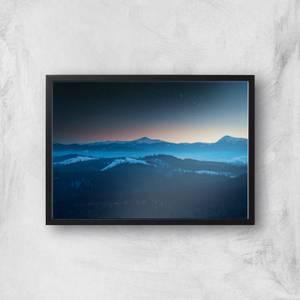 Alaskan Mountains Giclee Art Print
