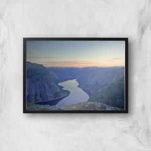 Mountain View River Giclee Art Print