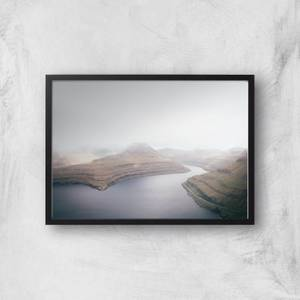 A River Through The Mountains Giclee Art Print