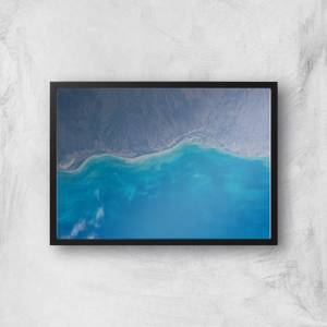 Shoreline From Space Giclee Art Print