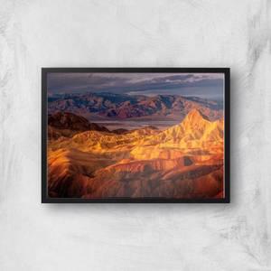 Shades Of Orange Mountains Giclee Art Print