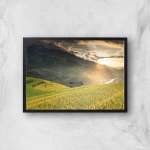 Field Of The Rising Sun Giclee Art Print