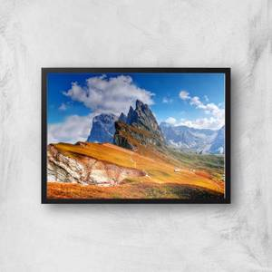 Orange Fields & Blue Skies Giclee Art Print