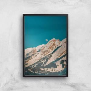 Moon Mountain Giclee Art Print