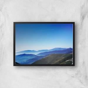 Blue Sky Blue Mountains Giclee Art Print