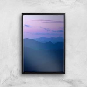 Dusky Purple Giclee Art Print