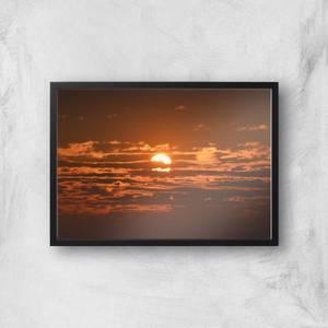 Sun Hidden By Clouds Giclee Art Print