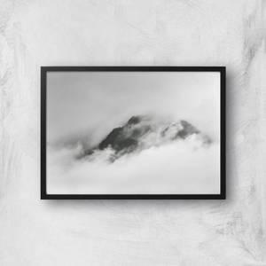 Cloud Washing Over Mountain Top Giclee Art Print