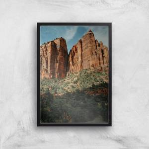 Cliff Side Ascent Giclee Art Print