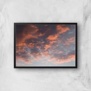 Cloudy Sunset Giclee Art Print