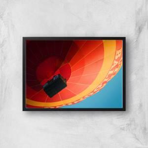 Hot Air Balloon From Below Giclee Art Print