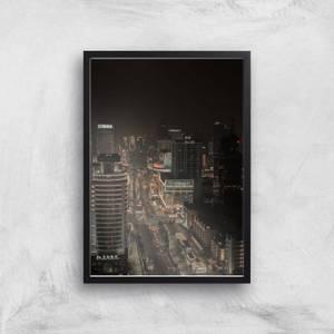 City At Night Giclee Art Print