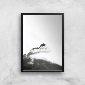 Black & White Mountain Giclee Art Print