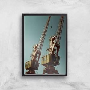 Industrial Crane Giclee Art Print
